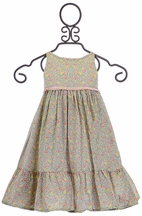 Wheat Little Girls Floral Dress Selma