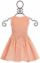 Wheat Spring Dress Pink Polka Dot Dahlia
