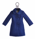 Widgeon Blue Ruffle Coat for Girls (4, 5, 6X & 7)