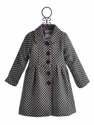 Widgeon Boutique Coat for Girls in Black and White