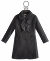 Widgeon Dress Girls Coat Ruffled in Grey