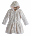 Widgeon Fancy Girls Fur Coat in Ivory