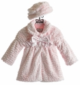 Widgeon Faux Fur Coat for Girls in Light Pink