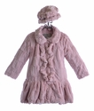 Widgeon Faux Fur Coat for Girls in Pink