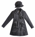 Widgeon Fleece Ruffle Coat for Girls with Hat (Size 5 & 6)