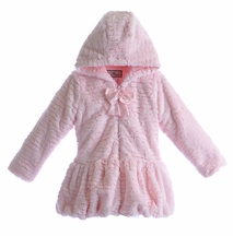 Widgeon Girls Couture Hooded Coat with Bow (3T,4,5,6)