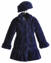 Widgeon Girls Purple Winter Coat Faux Fur