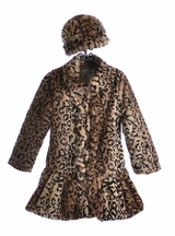 Widgeon Girls Ruffle Front Coat in Leopard (4,5,6)
