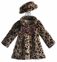 Widgeon Girls Winter Coat Leopard Faux Fur