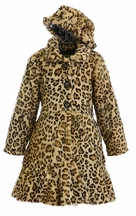 Widgeon Leopard Girls Coat with Hat (Size 4)