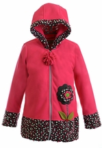 Widgeon Pink Confetti Hooded Coat