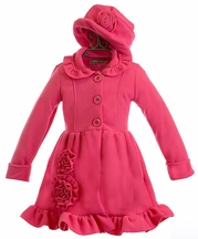 Widgeon Pink Fleece Coat and Hat (2 & 3)