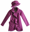 Widgeon Purple Ruffle Girls Winter Coat