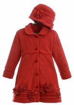 Widgeon Red Girls Coat with Hat (18Mos,5,6)