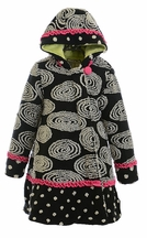 Widgeon Swirl and Twirl Coat in Black (Size 4)