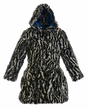 Widgeon Zebra Coat in Faux Fur