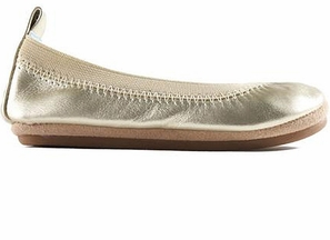 Yosi Samra Kids Flats Sammie in Gold
