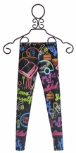 Zara Terez Neon Signs Girls Designer Leggings (Size LG 14)