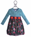 ZaZa Couture Floral Long Sleeved Dress for Girls