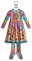 ZaZa Couture Girls Back to School Dress Gertrude Stripes