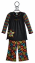 ZaZa Couture Girls Long Sleeve Tunic with Floral Pants