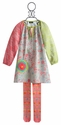 ZaZa Couture Girls Mixed Pattern Tunic in Farrah Pink