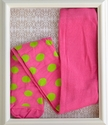 ZaZa Couture Girls Pink Tights with Polka Dots