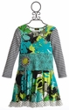 ZaZa Couture Isadora Saphire Dress for Girls with Long Sleeves