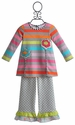 ZaZa Couture Little Girls Tunic and Pant Set Rainbow
