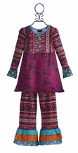 ZaZa Couture Pant Set for Girls with Buttons (2T & 7)