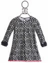 ZaZa Couture Pattern Pom Pom Dress for Girls