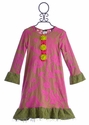 ZaZa Couture Pink Designer Dress for Girls (2T, 3T, 4T)
