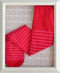 ZaZa Couture Pink Tights for Girls with Stripes (12-24 Mos)