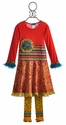 ZaZa Couture Red Flare Dress for Girls in Valentine