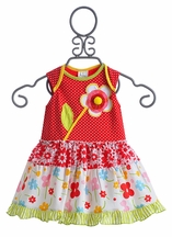 ZaZa Couture Red Polka Dot Dress Infant (6Mos & 9Mos)
