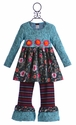 ZaZa Couture Ruffle Pant Set in Floral for Girls (18 Mos, 3T, 4T & 6X)
