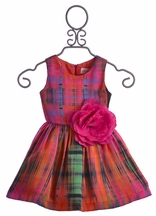 Zoe LTD Abstract Plaid Dress for Girls in Multicolor (6 & 6X)