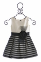 Zoe LTD Designer Dress for Girls in Ivory and Black