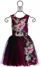 Zoe LTD Dress for Tweens with Flowers Haute Pink (7,8,10,12)