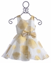 Zoe LTD Girls Special Occasion Dress in Gold