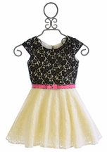 Zoe LTD Lace Dress with Belt for Girls (7,10,14)