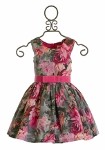 Zoe LTD Mod Gray Floral Dress