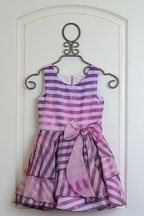 Zoe LTD Purple Ombre Stripe Dress