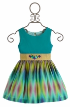 Zoe LTD Turquoise Dress for Girls (4,12,14)