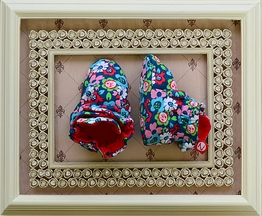 Zutano Booties Cotton with Flowers