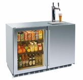 48 Inch Perlick Signature Series Outdoor Refrigerator and Beer Dispenser