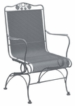 Briarwood High Back Coil Spring Chair with Seat Cushion