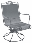 Briarwood High Back Swivel Rocker with Seat and Back Cushion