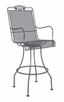 Briarwood Swivel Bar Stool with Seat and Back Cushion