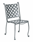 Maddox Stackable Bistro Side Chair with Seat Cushion